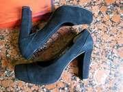 Carlo Pazolini осенние туфли натуральная замша высокий каблук осень